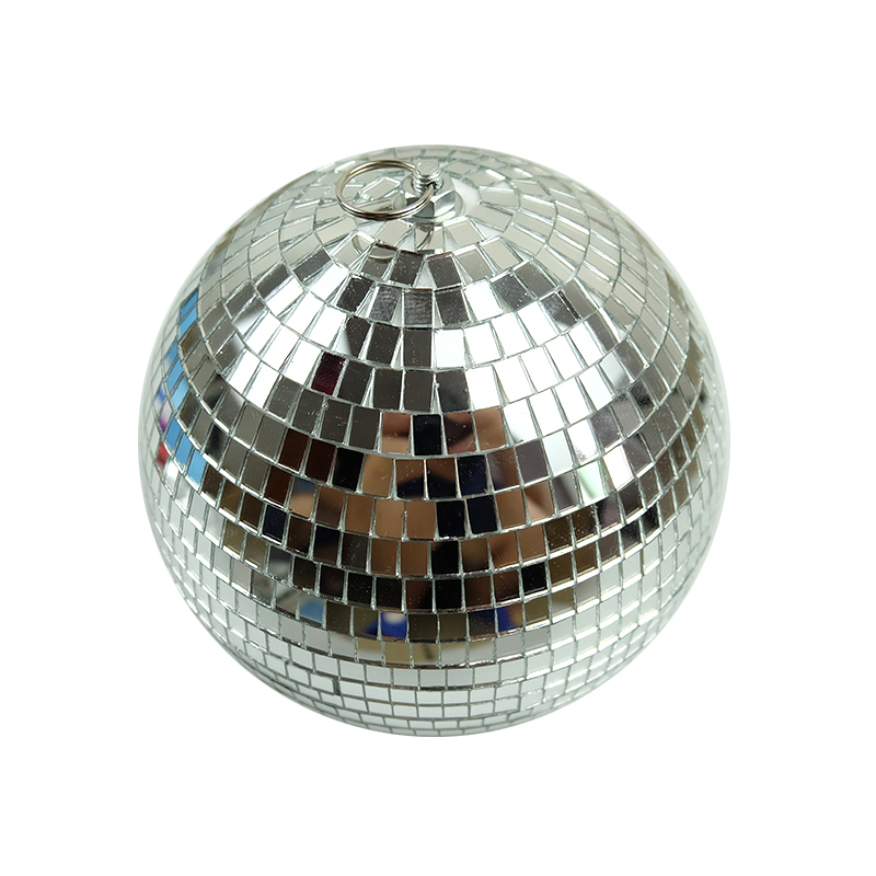 Image 2 - 1pcs Diameter 10/12/15/20cm Mirror Ball Reflective Decorative Ball Bar Disco Ball Wedding Glass Ball Cake Decoration gold/white-in Stage Lighting Effect from Lights & Lighting on