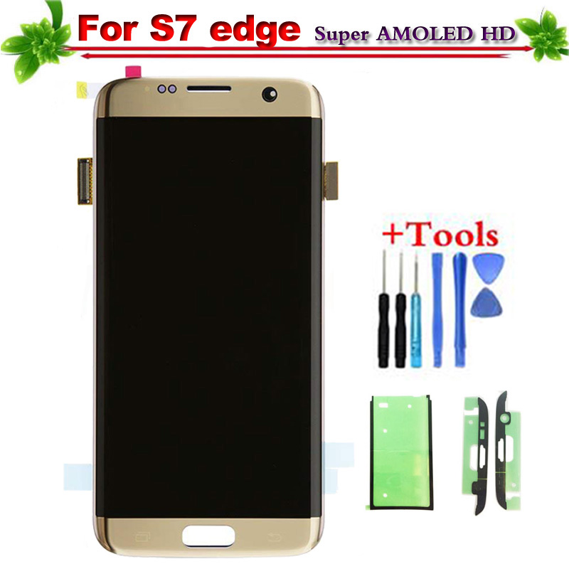 100% Tested For Samsung Galaxy S7 Edge G935 G935F LCD Display Touch Screen Digitizer Replacement Super AMOLED for S7 edge lcd
