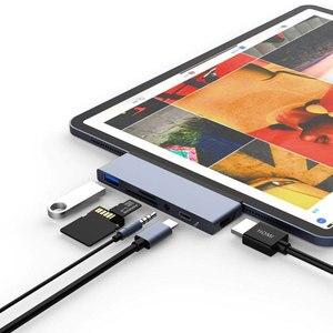 Usb c hub para hdmi adaptador para ipad pro 2018 macbook pro/ar usb tipo c doca com USB-C pd tf sd usb 3.0 3.5mm fone de ouvido porto