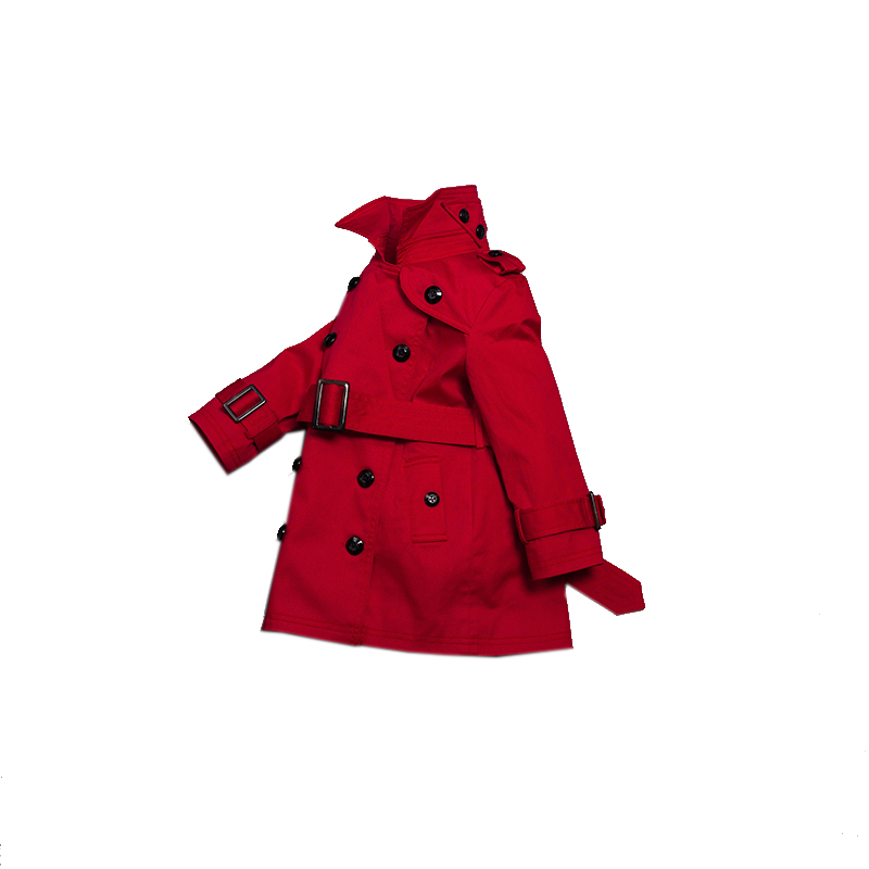 Lavensey 2017 Newest Trench Coat Double Breasted Jackets For Girls Clothing Tops Kids Windbreaker Red Spring Outerwear ellen tracy outerwear women s double breasted classic trench coat