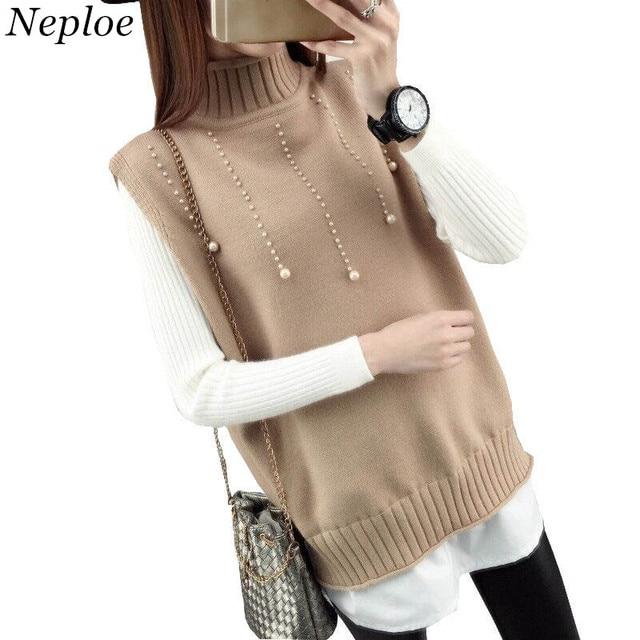 Neploe Woman 2 Piece Sweater Set 2018 Autumn Winter Turtleneck