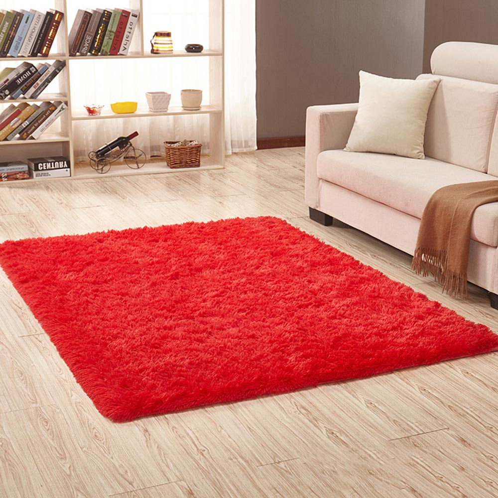 Carpet Floor Mat Soft Fluffy Rugs Anti Skid Shaggy Area