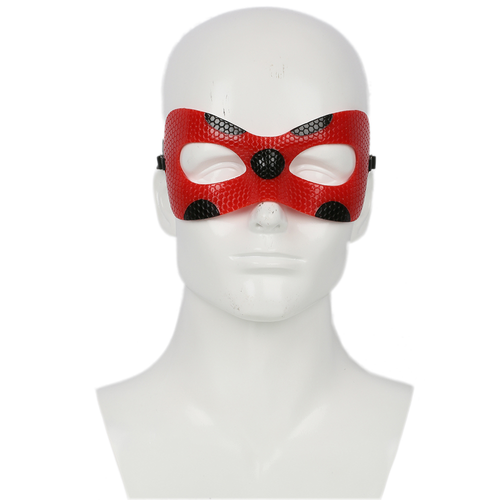 Miraculous Ladybug Papyrus Red Leather Eyeshade Party Mask 2018 Halloween Christmas Masquerade Masks Cosplay Costume Accessories
