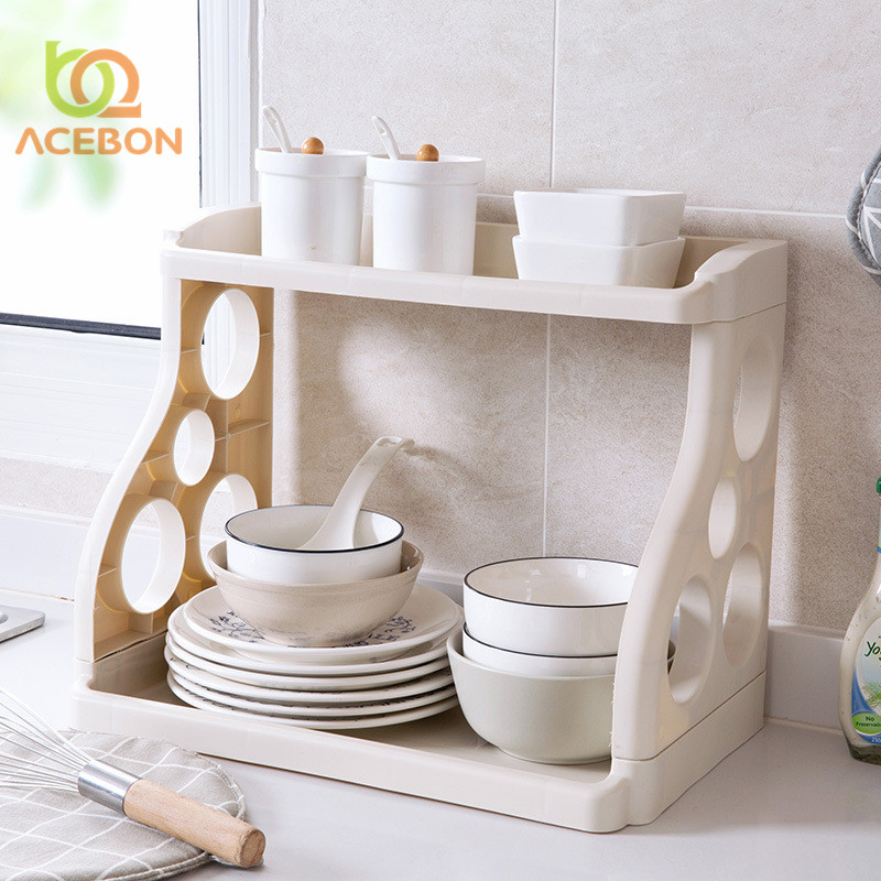 A Shelf 58 15c 5 Chrome Pull Out Basket: ACEBON Kitchen Sundries Storage Rack Multifunction Double