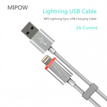 MIPOW MFi Lighting to USB Cable Fast Charging USB Data Cable for iPad iPhone 11 pro X 8 7 6 5 6s Plus 5s 5C SE micro usb cable to 8 pin adapter for iphone 8 7 6 6s 5 5s 5c se x ipad converter charger 8pin female adapter