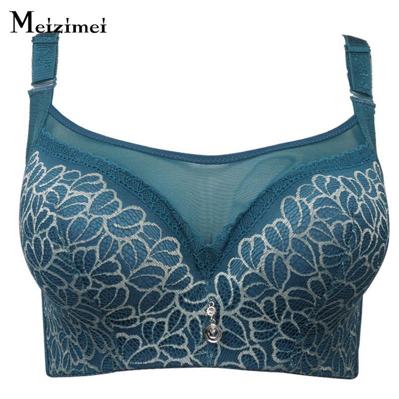 Meizimei Bras สำหรับผู้หญิงพลัสขนาดใหญ่ขนาดใหญ่สุภาพสตรี BH Super Push Up bralette Lace Crop Tops เซ็กซี่ brassiere younggirl