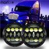Marloo 7 Inch Round 75W Daymaker LED Headlights For Jeep JK TJ Kenworth T2000 T 2000