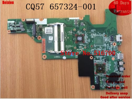 US $25 38 6% OFF|Notebook PC Main Board For HP Compaq Presario CQ57  Motherboard + E 300 CPU 657324 001 *WORKING*-in Motherboards from Computer  &