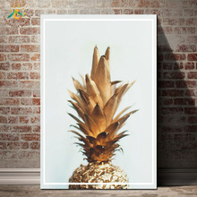 Golden Pineapple Artwork Modern Canvas Art Prints Poster Wall Painting Home Decoration Nordic Pop for