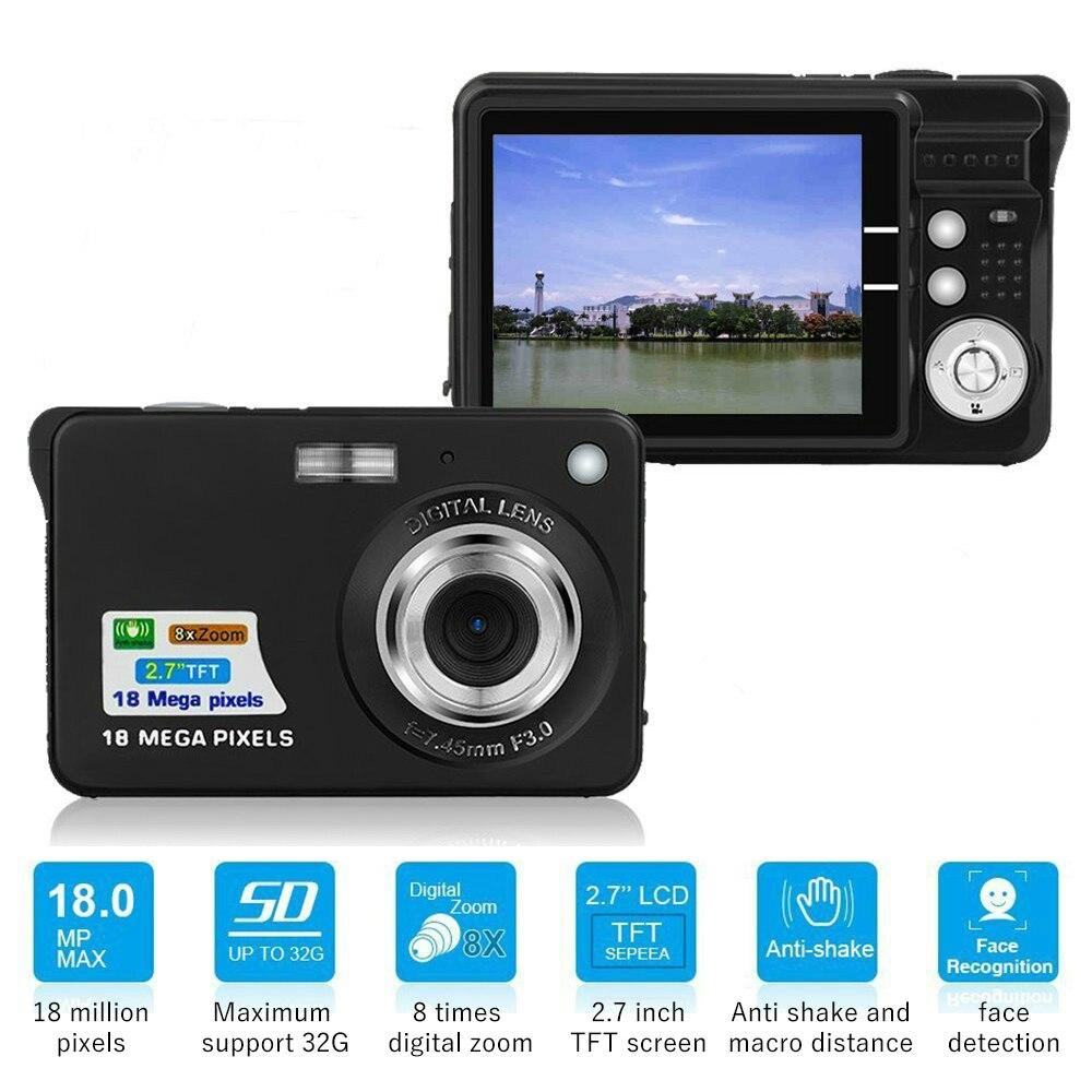 "HTB1FDMZX6zuK1Rjy0Fpq6yEpFXaC Children Portable Mini Camera 2.7"" 720P 18MP 8x Zoom TFT LCD HD Digital Camera Video Camcorder DV Anti-Shake Photo For Kids Gift"