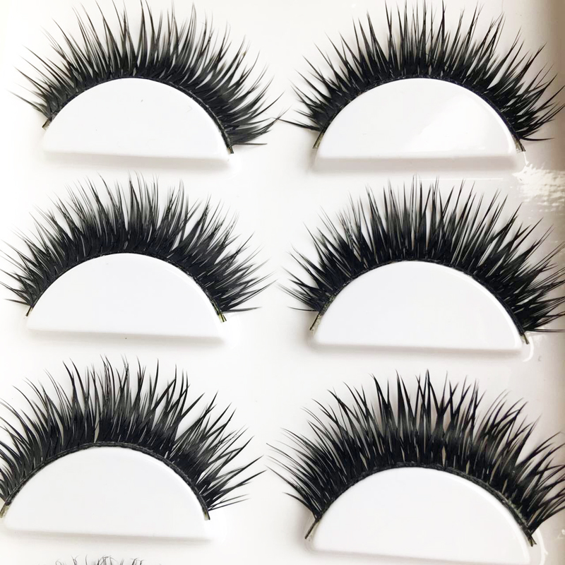 6pair Professional Makeup Fake Lashes False Eyelashes Extension Natural Eyelashes Eye Lashes Extensions Maquiagem Long Eyelash