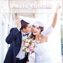 Photo Custom 5D DIY Painting Diamond Square Full / Round Wedding Rhinestone Home Decoration