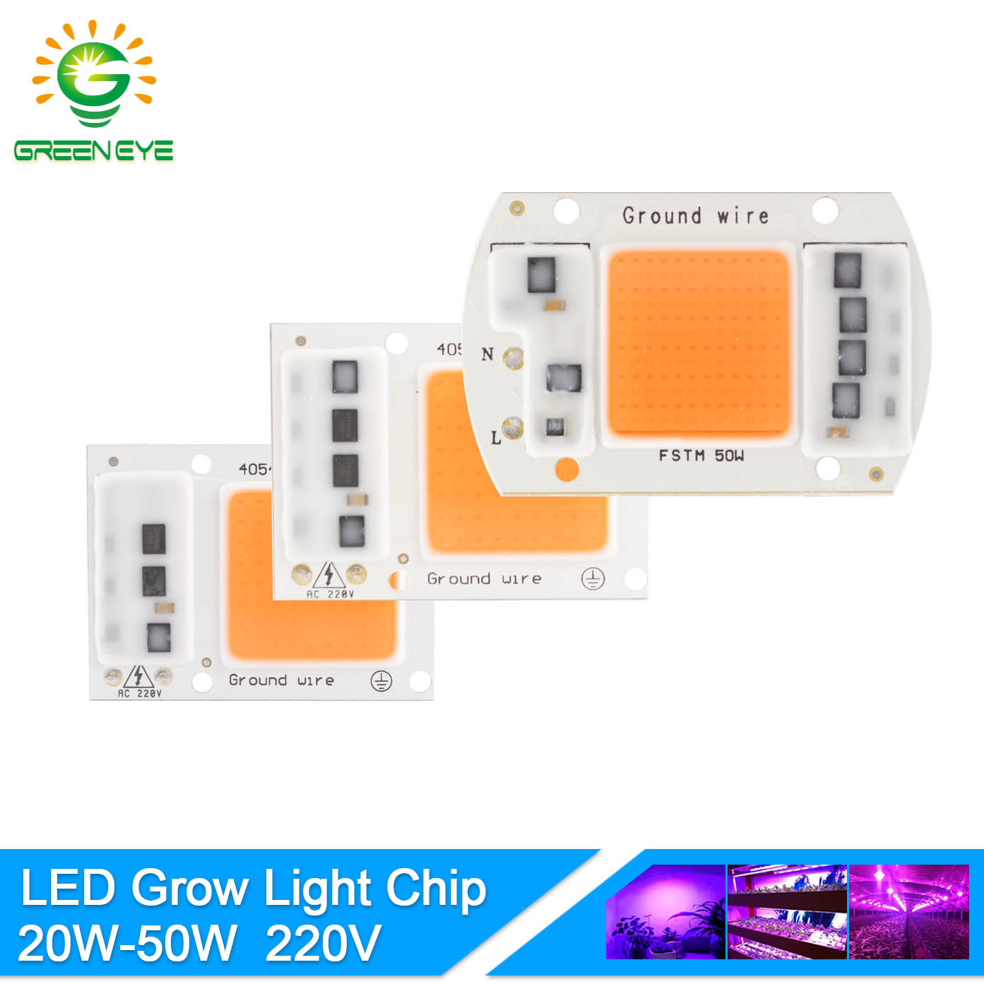 GreenEye LED Grow Light Lamp Chip Full Spectrum UV IR 220V 20W 30W 50W For Flower Plant Hydroponic Seedling Greenhouse Vegetable 30 led full spectrum ufo led grow panel light uv ir growing lamp 300w home indoor greenhouse veg flower plant seeding hydroponic