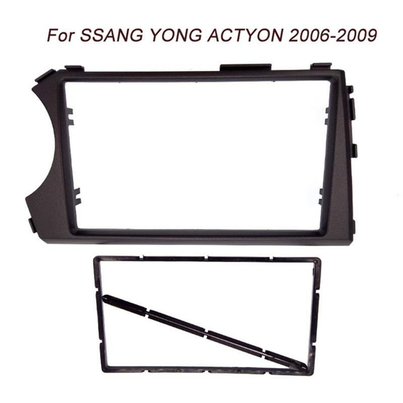 Image 2 - 2DIN Radio Fascia for SSANG YONG Actyon LHD (Left Hand Drive) Facia Dash CD Trim Installation mount Kit facia frame panel-in Fascias from Automobiles & Motorcycles