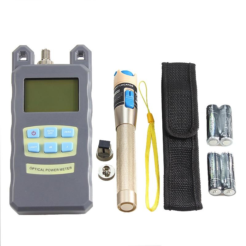 AUA 9 в 1 волокно комплект инструментов для работы с оптическим кабелем FTTH с волокно Кливер оптический измеритель мощности 5 км Визуальный дефектоскоп