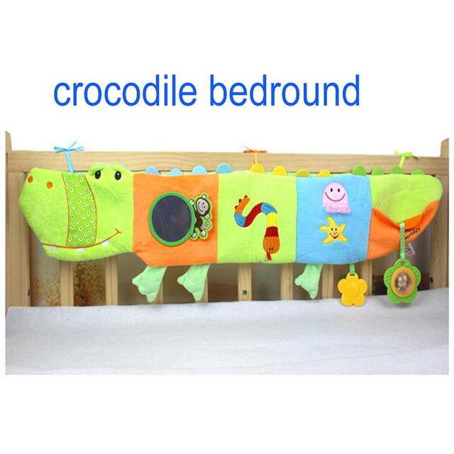 Crocodilo Bedround alta Quailty infantil educação infantil livro de pano de papel chocalho mordedor bebê brinquedos