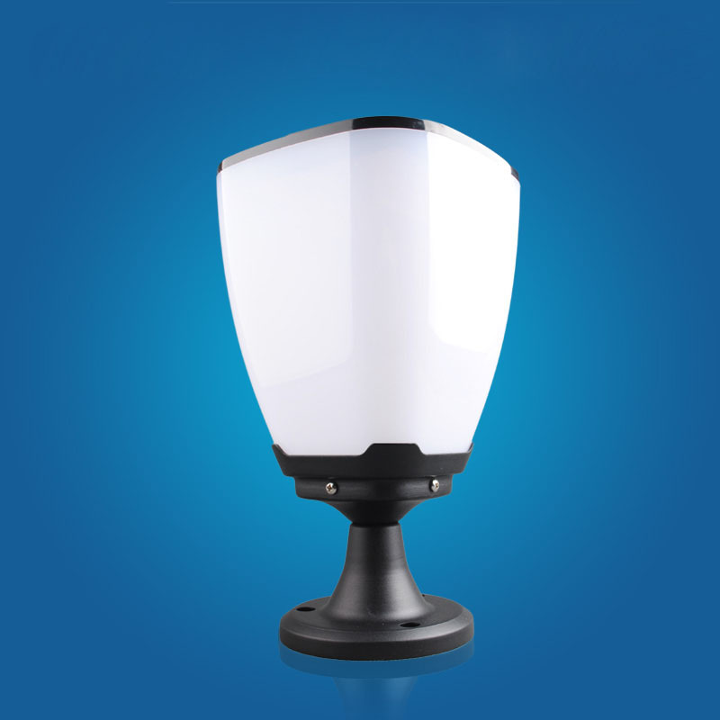 Outdoor Post Lights Led: Super Bright Waterproof Column Solar Led Head Lamp Post