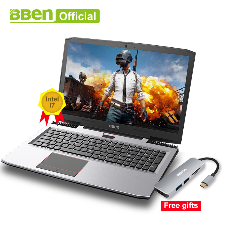Bben Игровые ноутбуки Intel Core i7-7700HQ 15,6 ips 1920x1080 экран 32 ГБ Оперативная память, SSD128G/256 г/512 г, 1 ТБ/2 ТБ HDD windows10 pro