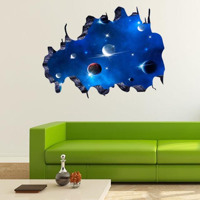 3d Wandkunst Dekor Galaxy Wohnzimmer Kinder Schlafzimmer Dekoration Vinyl  Wandaufkleber Dekoration Zubehör Adesivo De Parede
