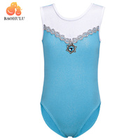 baohulu принцесса балерина фея костюм для вечеринок для маленьких девочек гимнастика трико танцевальное балетные костюмы синий платье дети танцевальная одежда