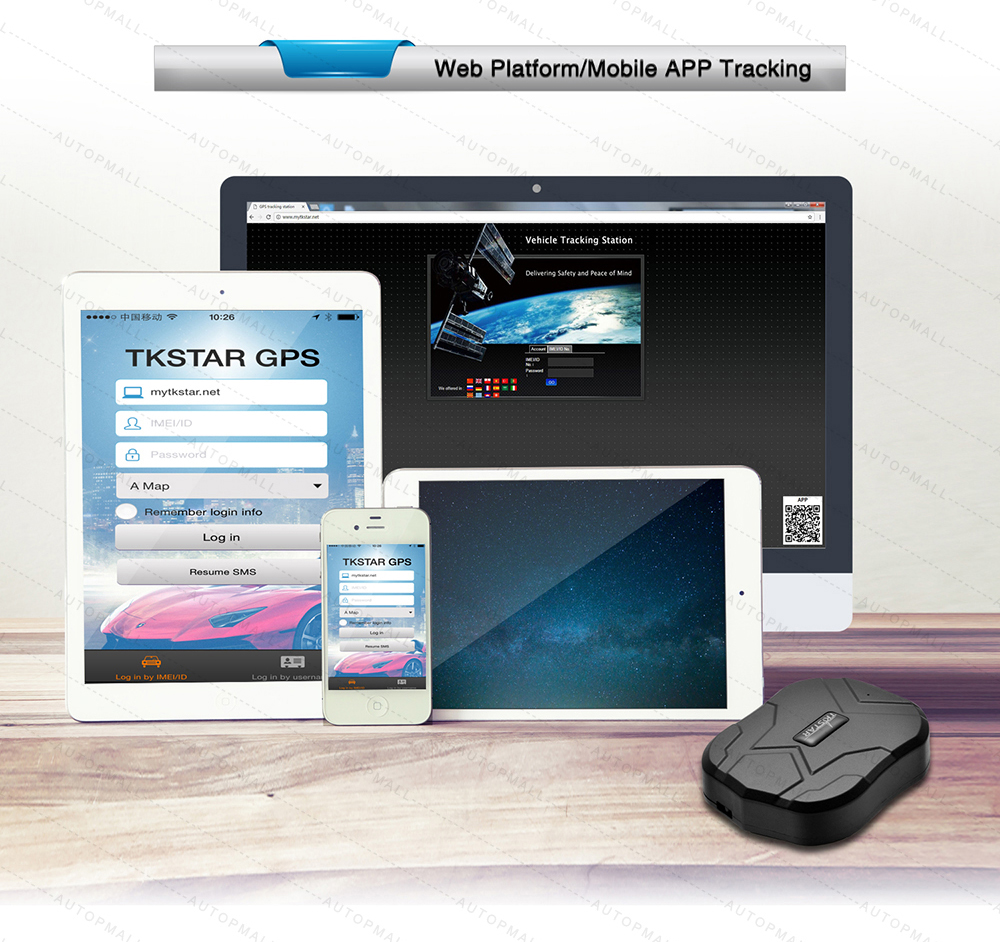 ₪GPS Tracker Car TKSTAR TK905 5000mAh 90 Days Standby 2G Vehicle