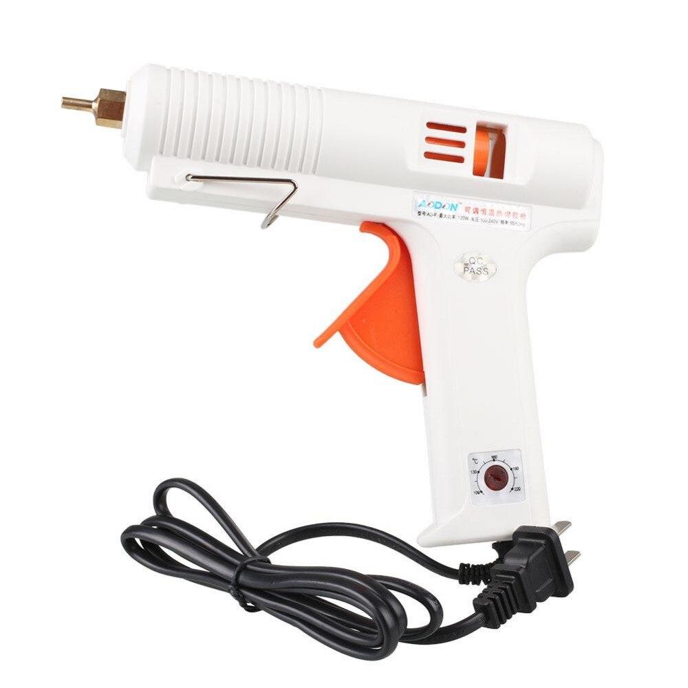 100W-120W Electrical Adjustable Temperature Hot Melt Glue Gun Heat Fit Glue Stick Tool 100w temperature adjustable hot melt glue gun 220v