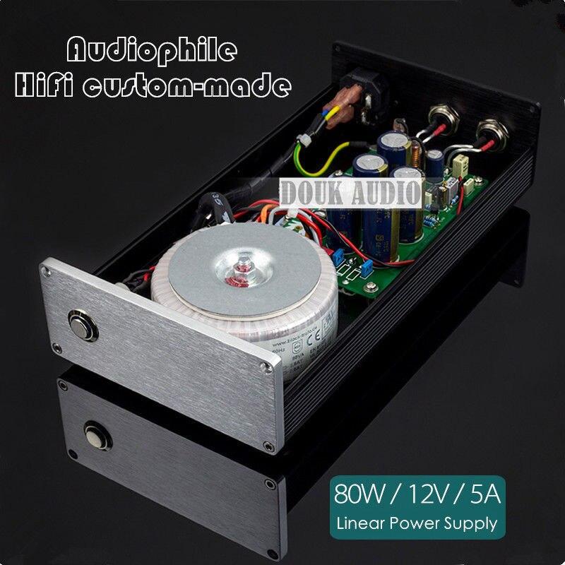2018 Nouveau Nobsound Salut fin 80 w DC12V 5A Linéaire Alimentation Pour Salut-fi Amplificateur DAC NAS MAC Numérique Audio dispositifs