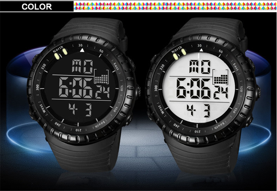 36ea26f81e47 TTLIFE Luminous LED Large Face Mens Watches Waterproof Shockproof ...