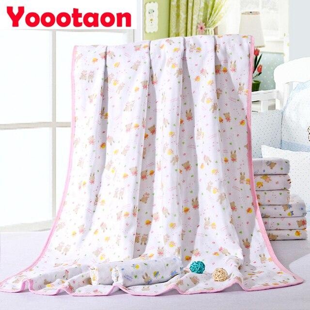 100% Cotton Baby Bath Towels Gauze Newborn Baby Towels Ultra Soft Cartoon Strong Water Absorption kids bath robe