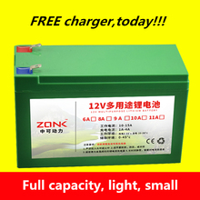 Alta qualidade 12 V 12AH, 11AH, 10AH, 9AH, 8AH, 7AH, 6AH recarregável De iões de Lítio bateria para o banco poder li-ion