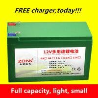 High quality 12V 12AH,11AH,10AH,9AH,8AH,7AH,6AH Lithium ion rechargeable battery for li ion power bank