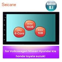 Android 8.1 Quad core RAM 1GB ROM 16GB Universal Car Autostereo 2 Din 7 Inch Radio GPS Headunit Player Mirror link USB 3G WIFI