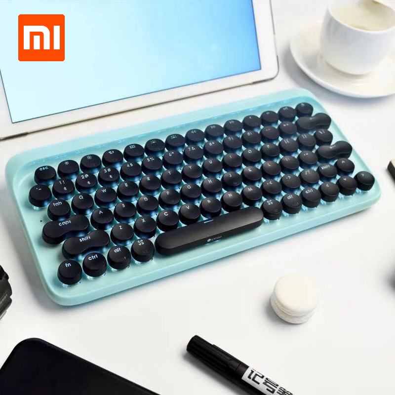 Xiaomi LOFREE Dot Bluetooth Mechanical Keyboard System wide Use Green Axis 79 Key Keyboard adjustable brightness