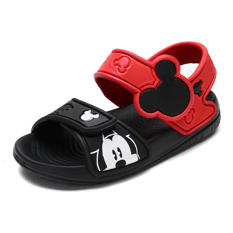Kids Cartoon Mickey Minnie Mouse Sandals Princess Girls Child Cute Beach Oft Bottom Boys Anti-skid Baby Shoes Europe Size 22-31