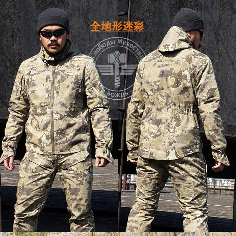 Nuovo Esercito Uniforme Militare Tattico Seme Attrezzature Deserto Camuffamento Combattimento Airsoft CS Caccia Uniforme Abbigliamento Impostato Pantaloni Giacca
