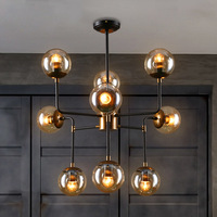 American country loft RH Branches golden iron glass modo pendent lamp for dining room bar villa 90 265v A159