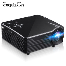 LED1018 Mini Portable LCD Projector With HDMI USB VGA AV SD Multimedia Interfaces Support 1080P For Movie Home Cinema PK yg300