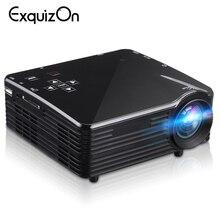 LED1018 Mini projecteur LCD Portable avec HDMI USB VGA AV SD Interfaces multimédia prise en charge 1080P pour le cinéma maison PK yg300