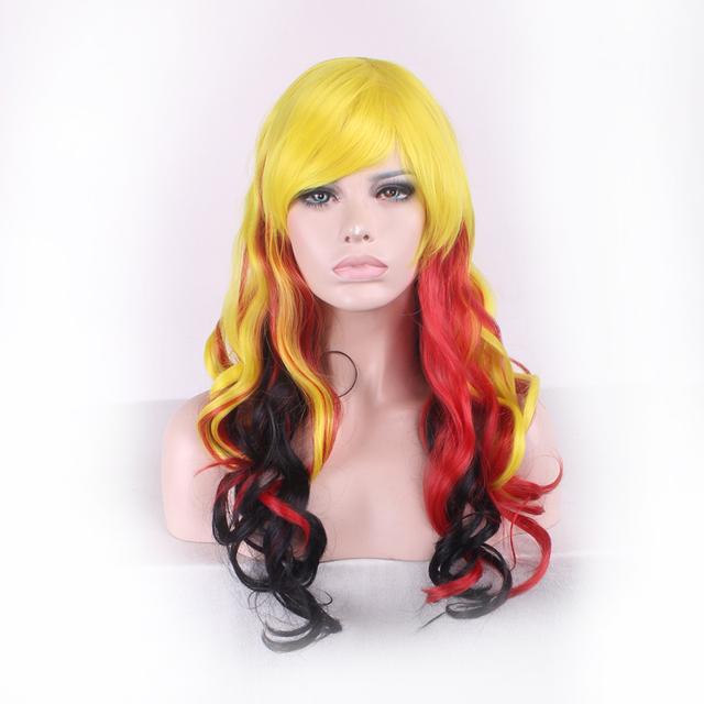 65cm White Black Wig