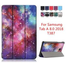 For Samsung Galaxy Tab A 8 0 2018 T387 Magnet PU Leather Smart Stand Case Tablet