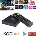 Set top Android 6.0 Caixa de TV inteligente Amlogic X96 S905X Quad Core KODI 16.1 Carregado Completo 4 K WiFi 1080i/P Media Player dvb-t2 Miracast