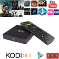 Set top Android 6.0 smart TV Box Amlogic X96 S905X Quad Core KODI 16.1 Completo Cargado 4 K WiFi 1080i/P Media Player dvb-t2 Miracast
