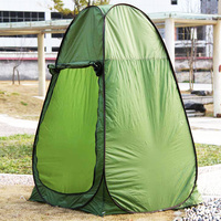 Automatic Shower Tent Outdoor Camping Toilet Foldable Beach Fishing Camp Changing Room with Carrying Bag Green/Camouflage