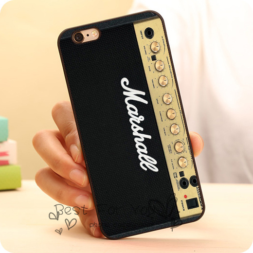 marshall amp amplifier cute cool hard plastic mobile phone case accessories for iphone 6 6 plus. Black Bedroom Furniture Sets. Home Design Ideas