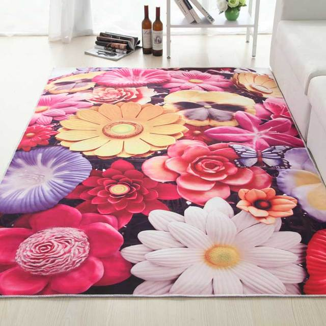 3D Daisy/Petal/Flower carpets for living room decorative rug for ...