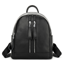 YILIAN  2018 new leather backpack double shoulder bag simplicity office Lady of leisure Head layer cowhide backpack 6601 backpack head backpack