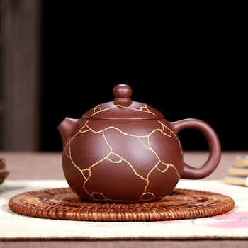 Yixing are recommended by pure manual undressed ore the colour purple clay teapot xi shi suit gift customization