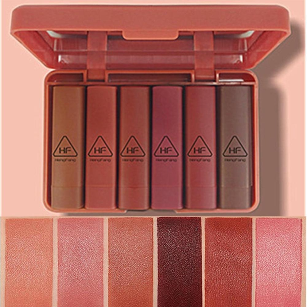 Maquiage 6 teile/satz Matte Lippenstift Wasserdicht Lip Lippenstift Lange Set Make-Up Kit Pigment hengfang Marke Samt Großhandel