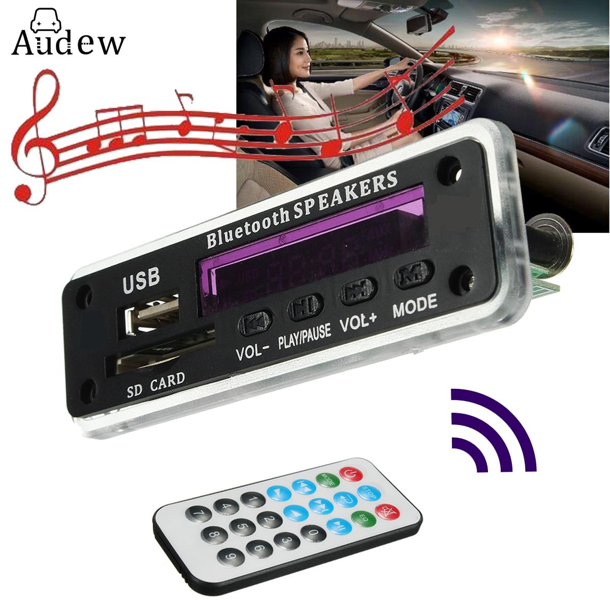 LEORY bluetooth MP3 Decoder Board Audio Module Wireless 12V MP3 WMA DAC Decoding Board With Remote USB SD Card FM Radio For Car