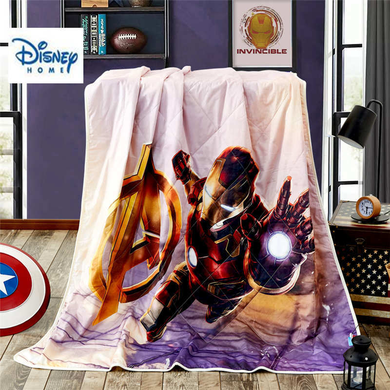 Disney Hero Bedlinens Twin Size Gooi Deken 100% Katoen Kid Beddengoed Voor Jongen 3d Iron Man Bedspreien Queen Size Zomer Quilt Fancy Colors